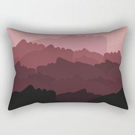 Love Mountain Range Rectangular Pillow