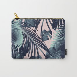 Tropical Jungle Leaves Dream #2 #tropical #decor #art #society6 Carry-All Pouch