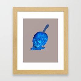 Popsicle Skull Framed Art Print