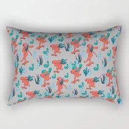 PICKING CACTUS -gray Rectangular Pillow