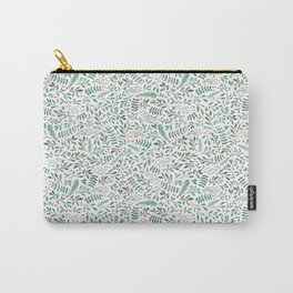 Green Leaves and Red Berries. Carry-All Pouch