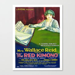 Vintage poster - The Red Kimono Canvas Print