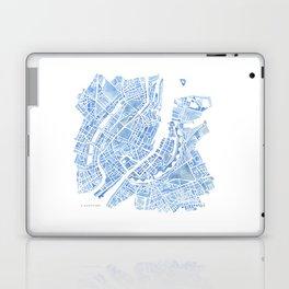Copenhagen Denmark watercolor city map Laptop & iPad Skin