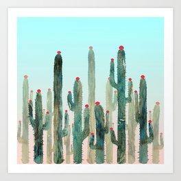 Summer Cactus 4 Art Print