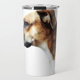 Pupper Watching Squirrels Travel Mug