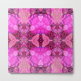 Royal Bojee Boho Magenta Queen Metal Print