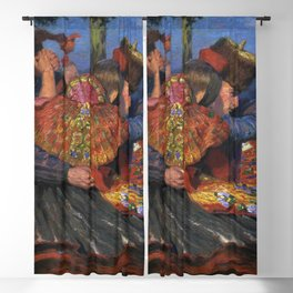 The Last Tango; Couples Dancing, Twilight portrait dance painting by Carl Bantzer Blackout Curtain