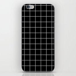 Black grid iPhone Skin