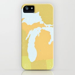 The GREAT LAKES of NORTH AMERICA iPhone Case