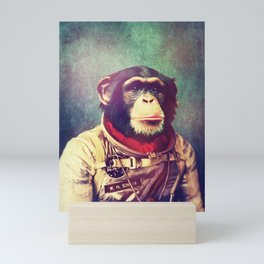 Astro monkey Mini Art Print