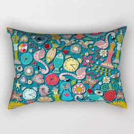 kitsch scatter cosmic blue Rectangular Pillow