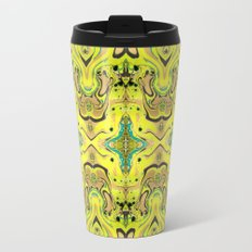 Agnes Lime Metal Travel Mug