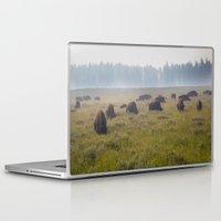 buffalo Laptop & iPad Skins featuring Buffalo by Claire Laminen Photo