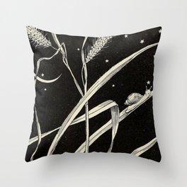 Night Snail Throw Pillow