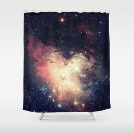 Deep Pastels Galaxy Space Sparkle Shower Curtain