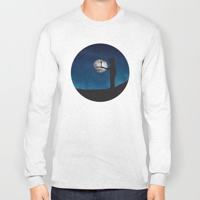 Nine o'Clock Moon Long Sleeve T-shirt
