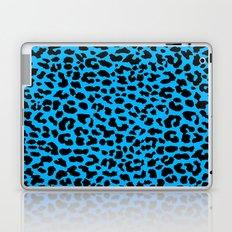 Neon Blue Leopard Laptop & iPad Skin