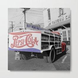 Vintage Pepsi Truck Metal Print