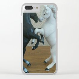 Dancing Horses Clear iPhone Case