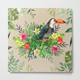 Tropic Wall-Bird Metal Print