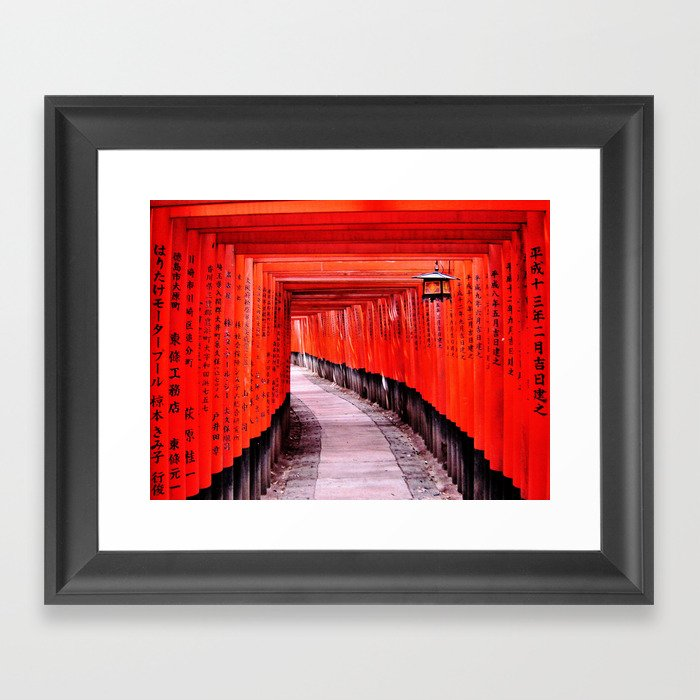 Through the Gates (Kyoto, Japan) Framed Art Print