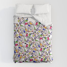 Color in Movement: Graphic colorful abstract pattern  Comforters