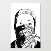 asap rocky Canvas Prints featuring ASAP Rocky Drawing by Lumpiam