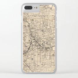 1906 Map of Atlanta, GA Clear iPhone Case
