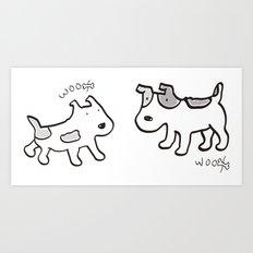 woofwoof dog meeting Art Print