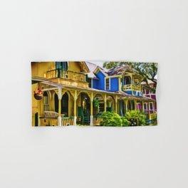Martha's Vineyard Cottages Portrait Painting Hand & Bath Towel