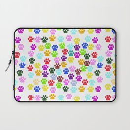 Dog Paws, Trails, Paw-prints - Red Blue Green Laptop Sleeve