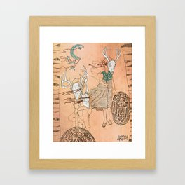 These Mazes We Carry Framed Art Print
