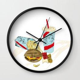 Socratic Meal Wall Clock