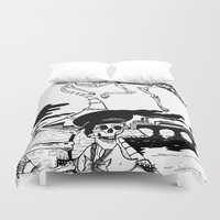 led zeppelin Duvet Covers featuring Zeppelin by Saskia Juliette