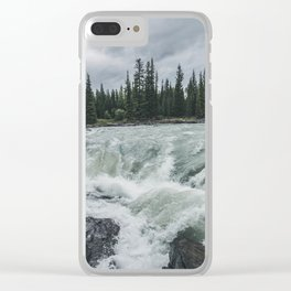 Waterfall View at Athabasca Falls Clear iPhone Case