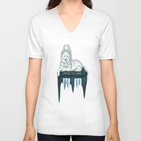 bad wolf V-neck T-shirts featuring BAD WOLF by Emma Lindkvist