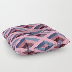 SQUARE HOLES / pale pink / marine blue / ancient pink / violet dark Floor Pillow