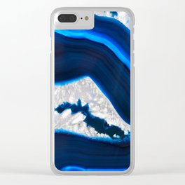 Electrical Agate Clear iPhone Case