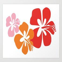 TAHITIAN FLOWER Art Print