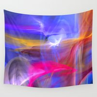 olivia joy Wall Tapestries featuring Joy by haroulita