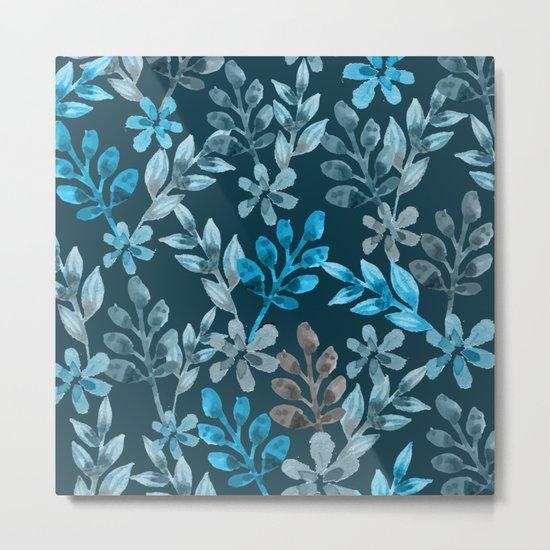 Leaf pattern III Metal Print