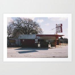 Abandoned Gas Station Art Print