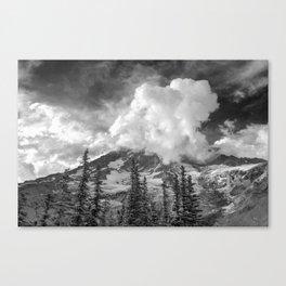 Rainier Obscured Canvas Print
