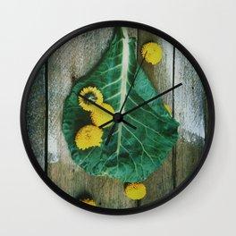 Collard Greens Wall Clock