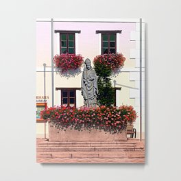 A saint and lots of flowers Metal Print