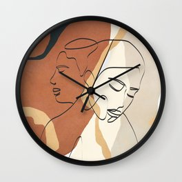 Developed Faces 02 Wall Clock