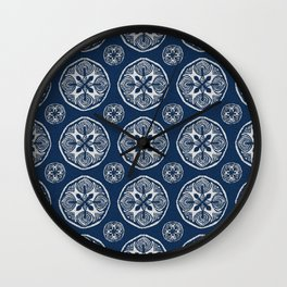 Shibori Cutlings Wall Clock