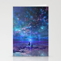 discount Stationery Cards featuring Ocean, Stars, Sky, and You by Melissa Hui Wang (muddymelly)