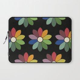 Flower pattern based on James Ward's Chromatic Circle (vintage wash) Laptop Sleeve