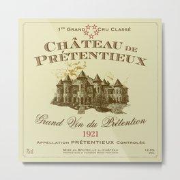 Château de Prétentieux Label Metal Print